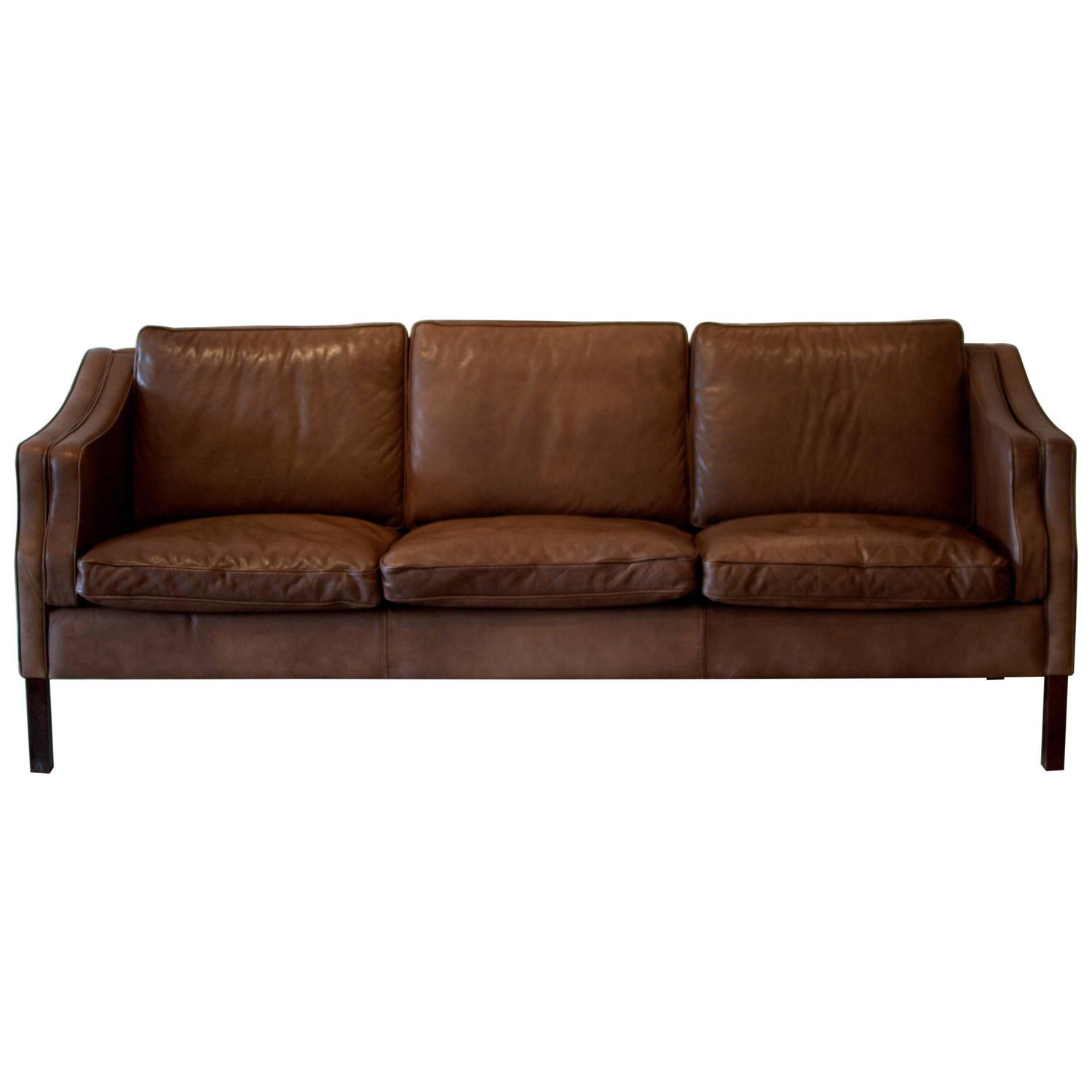 Retro Brown Leather Sofa Retro Thams Brown Leather 3 Seater Sofa Vintage Vintage Brown