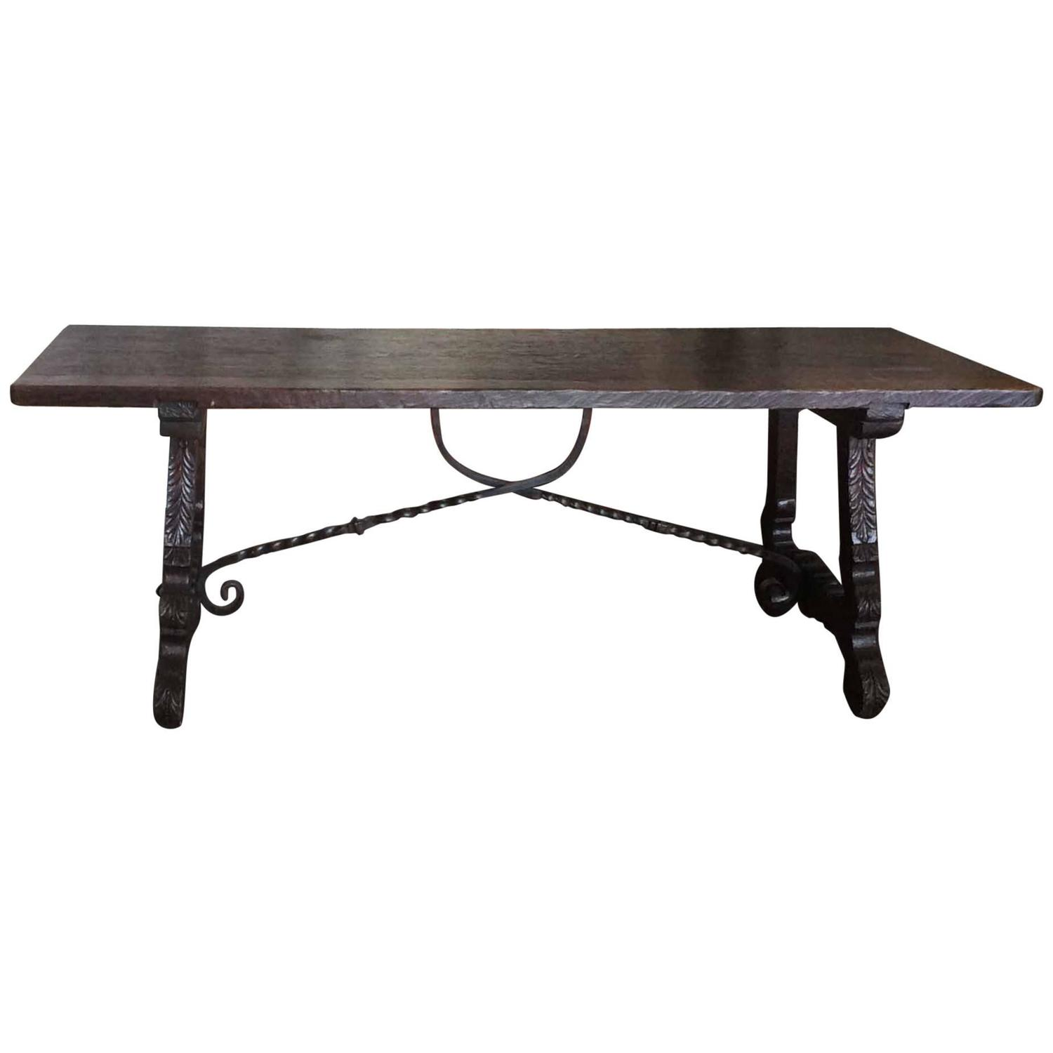 Antique spanish dining table at 1stdibs for Table in spanish