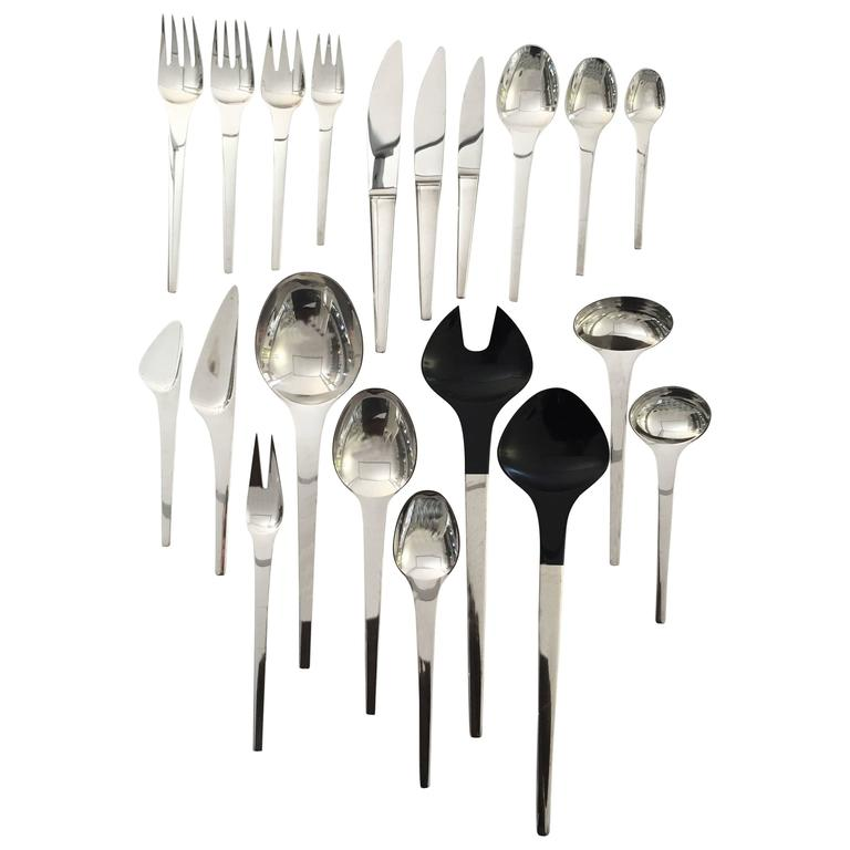 Georg Jensen Sterling Silver Flatware Caravel Set of 91 Pieces