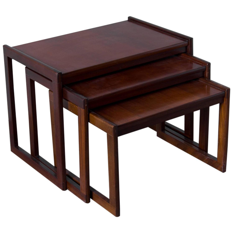 Punch design inc teak nesting tables for sale at stdibs