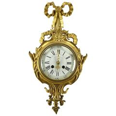 Tiffany & Company Gilt Bronze Cartel Clock