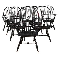 Set of Eight Windsor Armchairs