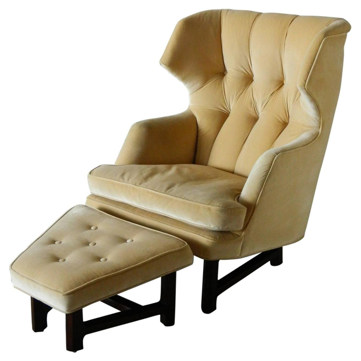Wing chair with ottoman - Wing Chair With Ottoman 2