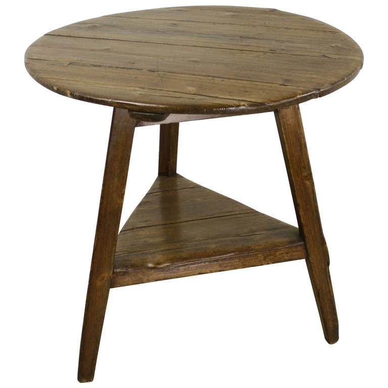 Antique Welsh Pine Cricket Table For Sale At 1stdibs