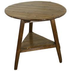Antique Welsh Pine Cricket Table