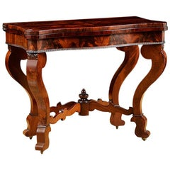 American Game Table, Attributable to Meeks & Sons, NY, circa 1840