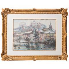H. Claude Pissarro Original Painting