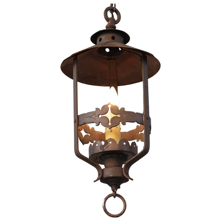 1920s spanish revival pendant light for sale at 1stdibs for Spanish revival lighting