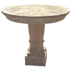 Antique Limstone Table