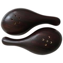 Salt and Pepper Set by Don Shoemaker in Rosewood, 1960s