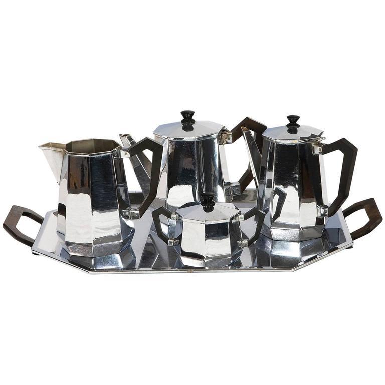Carlo Alessi Art Deco Tea and Coffee Service