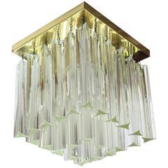 Triedri Camer Murano Glass Ceiling Sconce, circa 1970