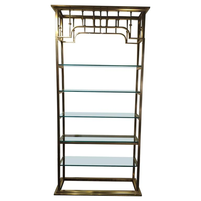 Mastercraft tall brass regency style tag re for sale at 1stdibs - Etagere cases carrees ...