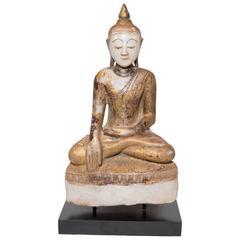Serene Shan Style Alabaster Buddha, circa 1800