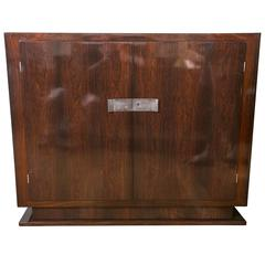 Tall Art Moderne Two-Door Sideboard or Cabinet