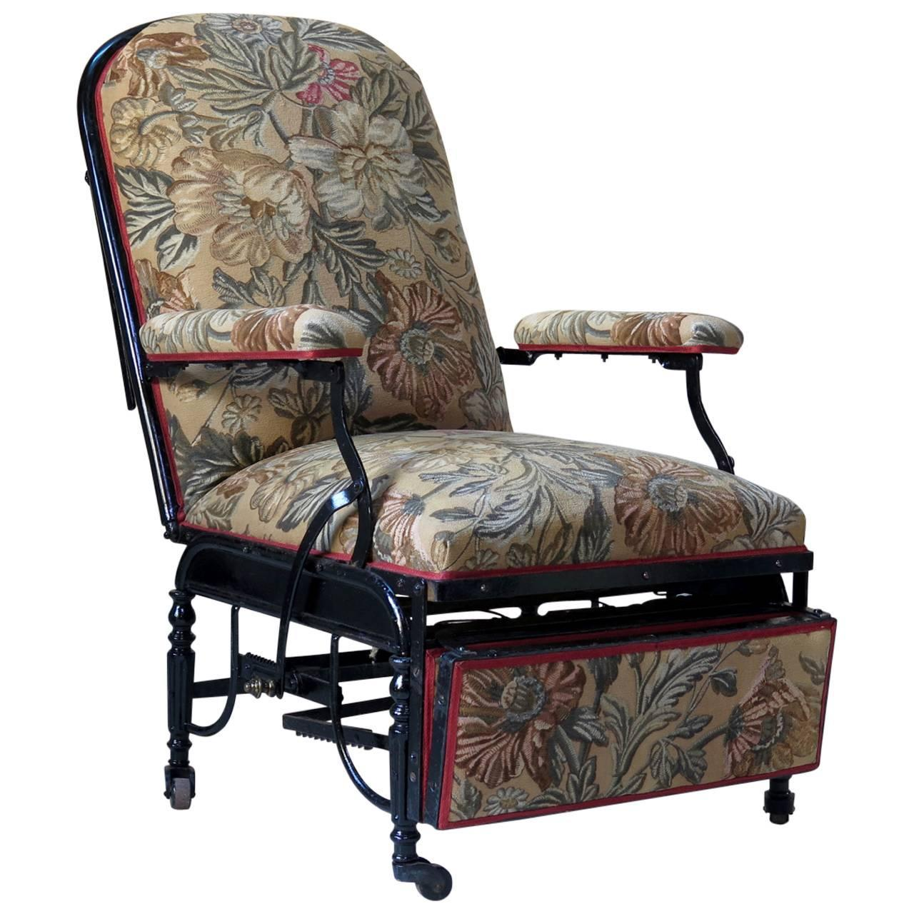 Adjustable napoleon iii armchair france circa 1880s for for Chaise longue france
