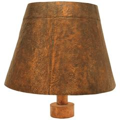 Huge Hammered Copper Table or Ceiling Lamp