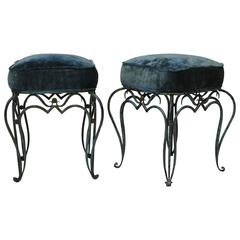 Elegant Pair of French 1940s Stools