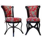 Rare Pair of 19th Century Ebonized Bentwood Chairs