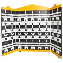Three-Panel Screen by Alessandro Mendini for the Ollo Collection