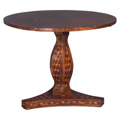 Continental Marquetry Centre Table