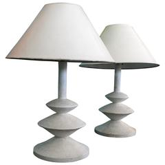 Pair of Early Jacques Grange Giacometti Lamps