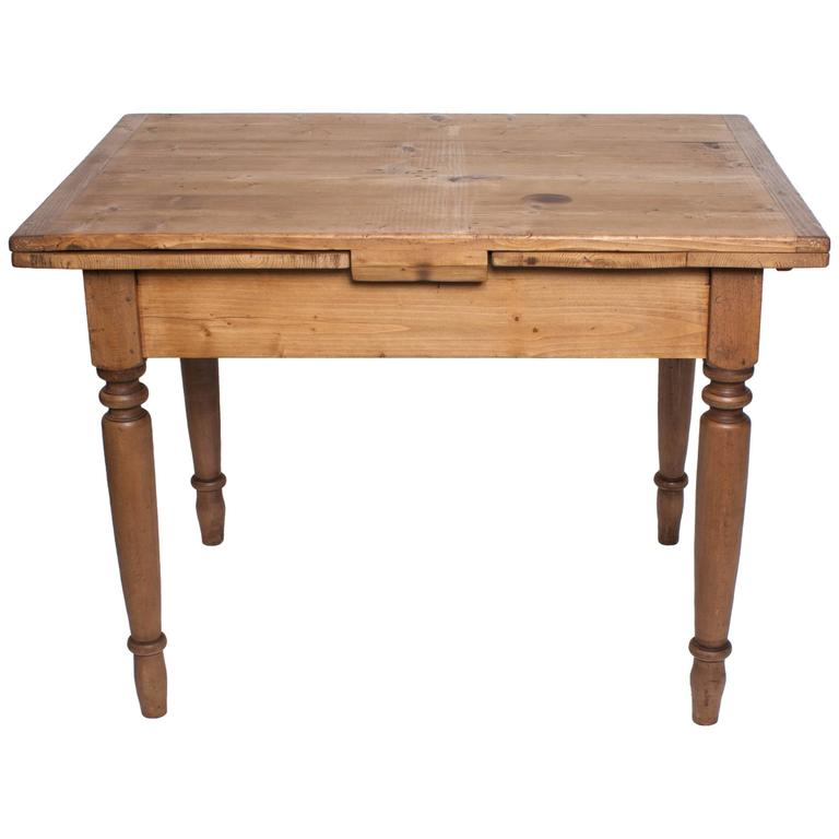 Pine And Beechwood Draw Leaf Table At 1stdibs