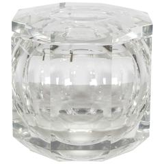 Grand Scale Lucite Decorative Box or Ice Bucket in the Manner of Albrizzi