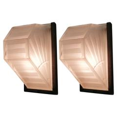 Pair of French Art Deco Wall Sconces by Hettier et Vincent