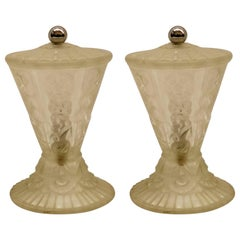 Pair of French Art Deco Table Lamps by Hanots
