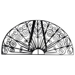 American Wrought Iron Decorative Window Transom or Gate, Circa 1820