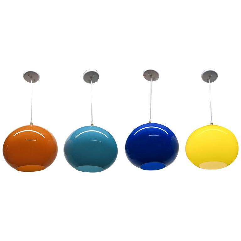 4 Murano Glass Fixtures by Alessandro Pianon for Vistosi, C. 1960 Italy