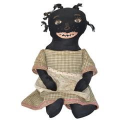Friendly American Southern Black Rag Doll, circa 1920