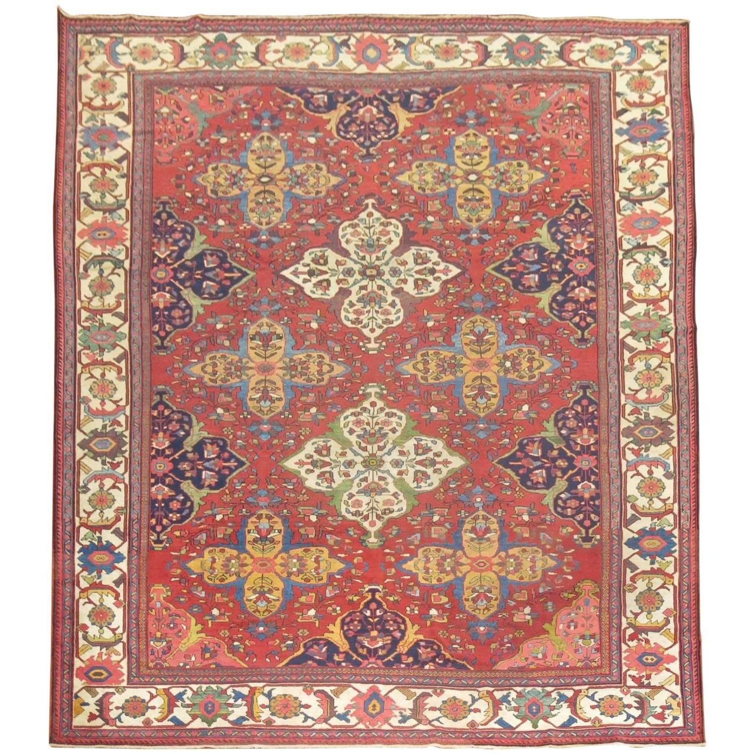 Chinese Rug Dealers: Antique Persian Ferehan Mahal Rug For Sale At 1stdibs