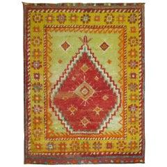 Vintage Turkish Tulu Carpet