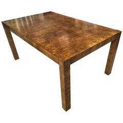 Stunning Milo Baughman Burl Dining Table