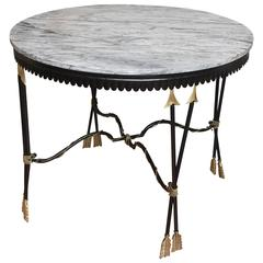 Neoclassical Marble-Top Center Table