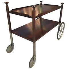Sculptural Rosewood Bar Cart