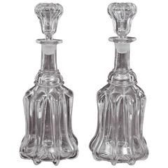 Pair of 18th Century English Port and Sherry Decanters