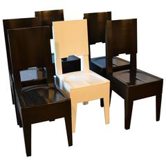 Six American Modern Dining Chairs by Artist Roy McMakin