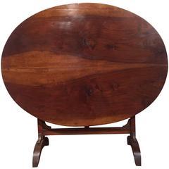 19th Century Walnut Wine Tasting Table from Burgundy