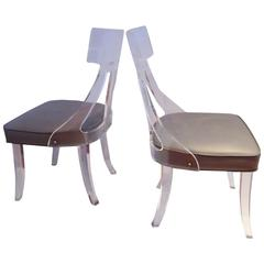 1970s Klismos Style Lucite Chairs Great Lines