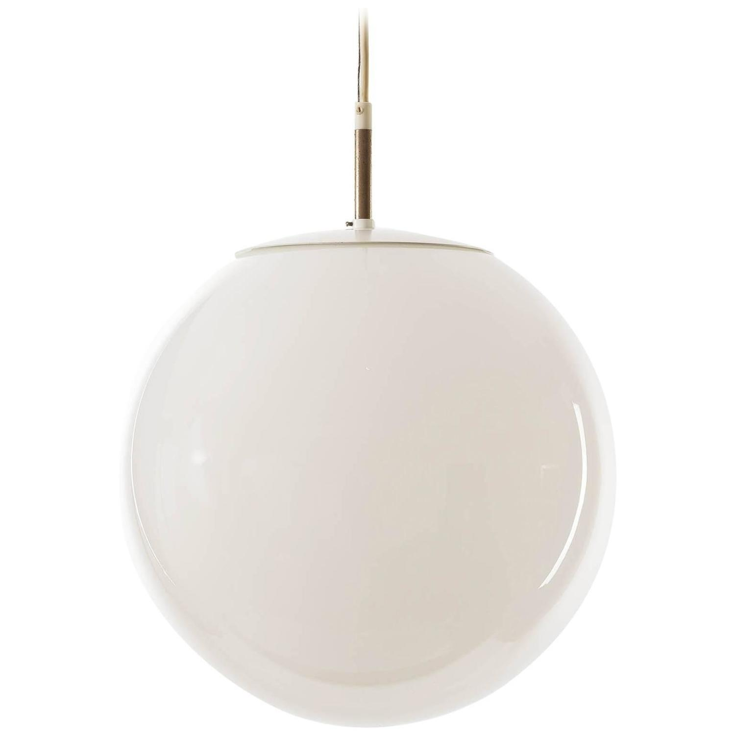 RAAK Pendant Light, Opal Glass Globe, 1960s At 1stdibs