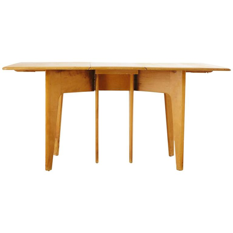 Heywood Wakefield Drop Leaf Dining Table For Sale