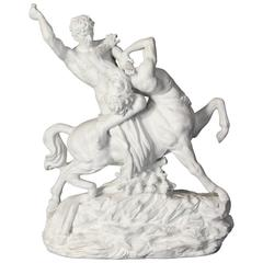 Monumental Dresden Porcelain Sculpture of a Centaur