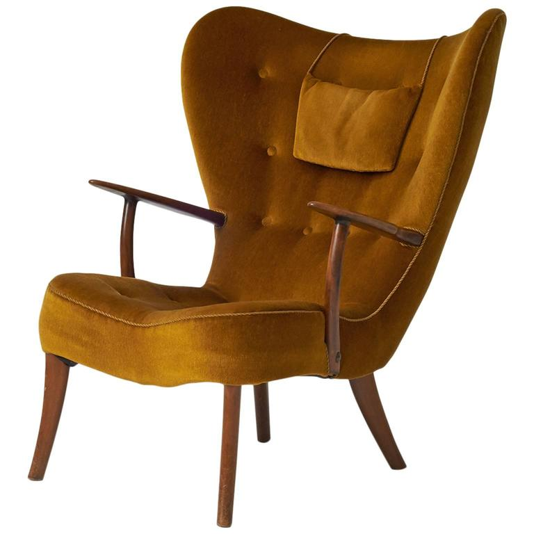 Acton Schubell And Ib Madsen Lounge Chair For Sale At 1stdibs