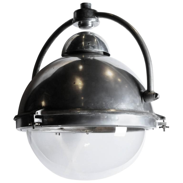 French Industrial Pendant Light At 1stdibs