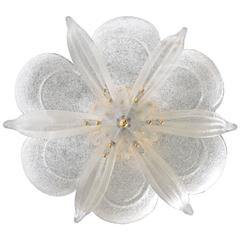 Large Murano Barovier & Toso Leaf Chandelier