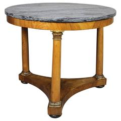 Italian Neoclassic Walnut and Giltwood Centre Table