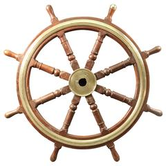 Authentic Wooden Ship's Wheel